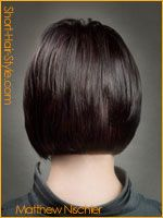 classic graduated bob hairstyle - Back View Long Bob Haircut With Bangs, Long Bob Haircuts, Cute Hairstyles For Short Hair, Creative Hairstyles, Short Hair Styles, Full Bangs, Bob Styles, Concave Bob Hairstyles, Graduated Bob Hairstyles