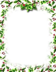 Free Christmas Letter Borders Geographics Holly Ivy