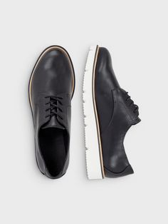 LACED UP SHOES, Black, large