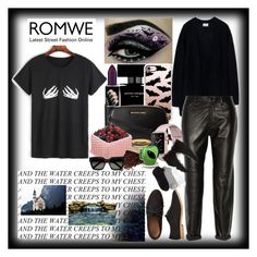 """""""Romwe"""" by angelihenkle ❤ liked on Polyvore featuring MAC Cosmetics, Narciso Rodriguez, Casetify, MICHAEL Michael Kors, Acne Studios, J Brand, Charlotte Russe, Gap, Yves Saint Laurent and J.Crew"""