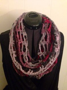 Infinity scarf woman's scarf crocheted scarf por Restlessfingers4
