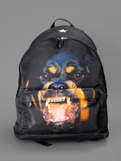 GIVENCHY ICONIC PRINTS ROTTWEILER PRINTED BACKPACK HEIGHT: 42CM WIDTH: 19CM DEPTH: 12CM