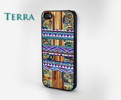 iPhone 5 case - Geometric Wood Grain