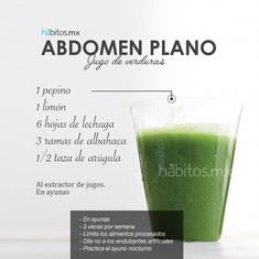 Hábitos Health Coaching | JUGO DE VERDURAS ABDOMEN PLANO