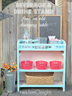 Changing table to beverage center