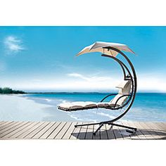 Dream Chair Patio Chaise Lounge with Umbrella...I got one on my patio and LOVE IT!