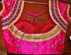 celebrity embroidery silk blouse........!!! pink with silk material.....!!! #stonework #pinkblossomblouse  #covaiweddingshoppers