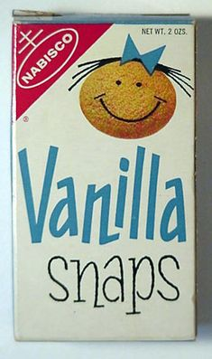 Vanilla Snaps Cookies 1962- lol, I used to eat these all the time!  fb