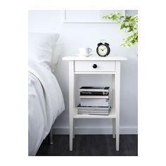 HEMNES Sivupöytä - valkoiseksi petsattu - IKEA