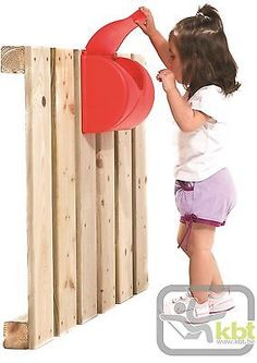 RED LETTER / POST BOX - GARDEN CLIMBING FRAME / PLAYHOUSE ACCESSORY