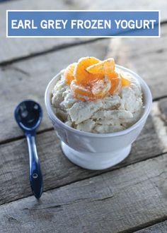 frozen yogurt recipe is made with honey and fragrant Earl Grey tea ...