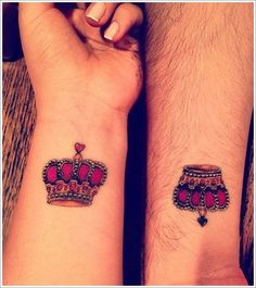 Crown Tattoo Designs... I know, couple tattoos, but something in me still wants a king to my queen.