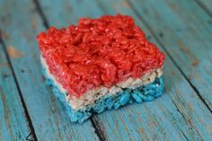 Fourth of July Rice Krispies Treats | 20 Red, White + Blue Sweets and Treats