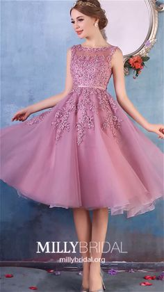 Short Homecoming Dresses Pink Formal Dresses for Teens, Modest Prom Dresses Lace, A-line Cocktail Party Dresses Tulle Source by markusbreuer Pink Formal Dresses, Pink Party Dresses, Formal Dresses For Teens, Beautiful Prom Dresses, Modest Dresses, Elegant Dresses, Short Dresses, Pretty Dresses For Teens, Lace Dresses