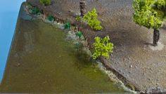 Modelismo Difusion: Escenografia, modelismo en su pura esencia. Preparación de un terreno y... ¡agua!