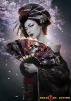 hình xăm geisha 5