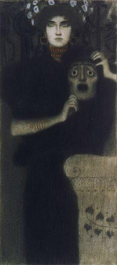 """For Sale on - Gerlach's Allegorien, plate """"Tragedy"""" Lithograph, Gustav Klimt., Lithograph by Gustav Klimt. Gustav Klimt, Art Klimt, Art Plastique, Funny Art, Dark Art, Traditional Art, Art History, Art Inspo, Art Photography"""