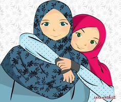 Islam is the best religion Cartoon Girl Images, Girl Cartoon, Cartoon Art, Family Drawing, Drawing For Kids, Cute Kawaii Drawings, Love Drawings, Hijab Drawing, Manga Drawing
