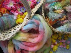 Candyland waiting - KoolAid dyed wool