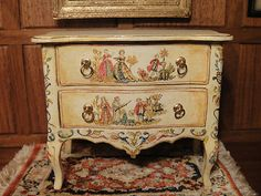 IGMA Artisan Janet Reyburn's Italian 18th Century Style Commode 1:12 Scale