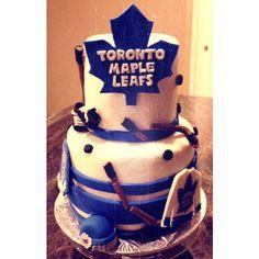 Mini Cake- Grooms Cake- Toronto Maple Leafs Hockey Cake