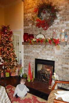 Fireplace and mantle Christmas Decorations - A Christmas Carole - Beautiful Christmas Decorations from the Heart