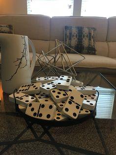 Coffee table decor - game room