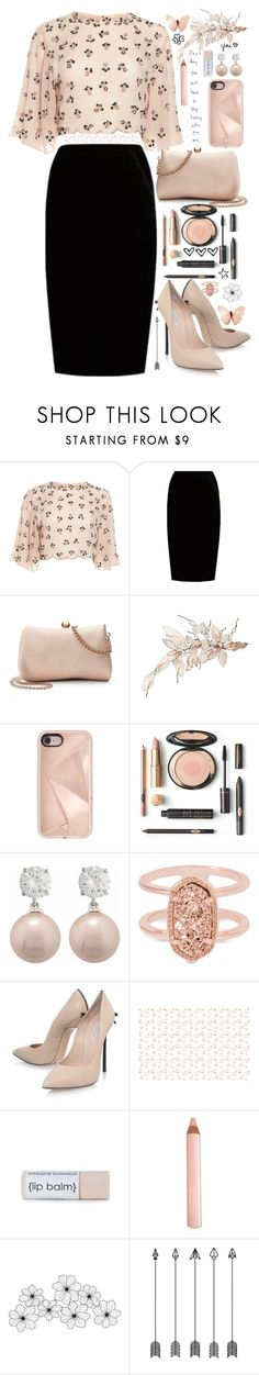 """Untitled #329"" by anna-nedelcheva ❤ liked on Polyvore featuring Jupe By Jackie, LC Lauren Conrad, Rebecca Minkoff, Jankuo, Kendra Scott, Casadei, Trish McEvoy and WALL"