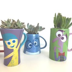 DIY Disney - How to create an  Inside Out succulent garden. From @DisneyStyle. #InsideOut