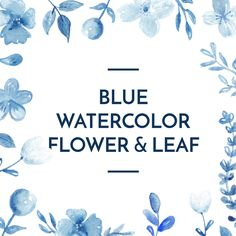 Blue Indigo Flower Watercolor Clipart, Floral Clip Art, Romantic rose, Wreath & arrangement, Wedding Invitation, digital file, PNG by ARKEYstudio on Etsy