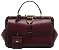 Gucci Lady Stirrup Top Handle Carminio Red Leather Bag