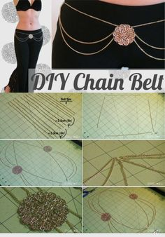 DIY Chain Belt - SPARKLY BELLY
