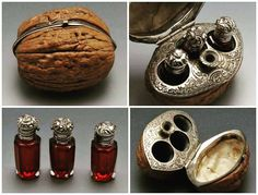 19.yy cevizden menteşeli koku şişeleri /Fransa #sanat #art #parfüm #fransa http://turkrazzi.com/ipost/1515271023035985018/?code=BUHUveagKx6