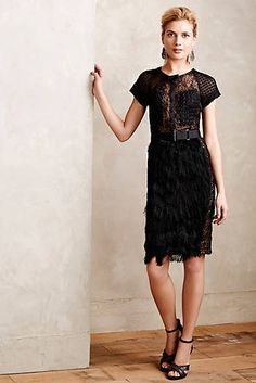 Corvus Fringe Panel Dress by anthropologie