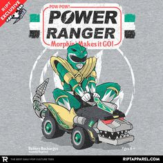 Pow-Pow-Power T-Shirt - Power Rangers T-Shirt is $11 today at Ript!