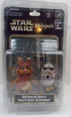 US $16.99 New in Collectibles, Disneyana, Contemporary (1968-Now) You are bidding on a Disney Parks Star Wars 30th Anniversary Muppets Bean Bunny as Wicket and Chicken as Stormtrooper New Comes brand and never opened and in a Plastic Storage Case