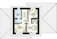Verona II projekt - Floor 52.03 m² Dream House Plans, Verona, Sweet Home, Floor Plans, House Design, Flooring, How To Plan, Projects, Home Architecture