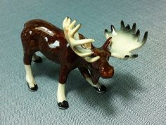 Hand Painted <b>Porcelain</b> Bull Moose Necklace, <b>Antique</b> Bronze ...