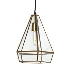 Prima is a geometric metal and glass pendant light that adds a touch of panache to any room. Use a standard bulb (sold separately). Glass Pendant Light, Lantern Pendant, Glass Pendants, Pendant Lighting, Chandeliers, Vases, Mirror Wall Art, Wood Lamps, Cool Floor Lamps