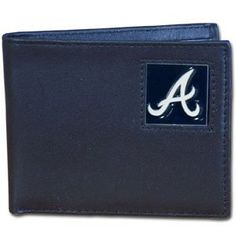 Atlanta Braves Executive Bifold Wallet - MLB Baseball Fan Shop Sports Team Merchandise by Siskiyou. $29.99. Our Executive Bifolds wallets are made of high quality fine grain leather with a sculpted pewter team emblem depicting your favorite team. Packaged in a window box that can be hung by a peg or stack on a shelf.. Save 25% Off!