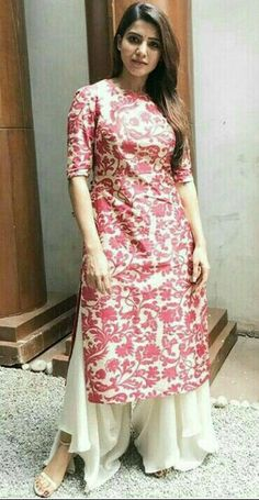 Sam for Raju gari gadhi 2 promotions Dress Indian Style, Indian Dresses, Indian Outfits, Mehndi, Henna, Simple Kurti Designs, Kurta Designs Women, Churidar Designs, Indian Designer Outfits