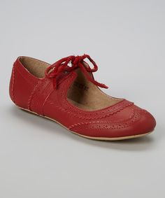 Red dancing shoes!! And pierced leather and foxing because obviously