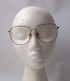 cfbe7a3076ce vintage 1980 s NOS barrett eyeglasses round gold metal frames tortoise  shell brown enamel eye glasses modern retro mens womens accessories