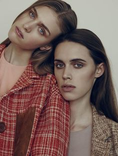 Hedvig Palm & Georgia Hilmer shot by Matthew Sprout for Styleby Magazine, February 2015. MUA: Daniel Martin