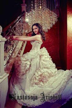 Ball Gown Wedding Dress. Silk Wedding dress.Light Airy by Aristoff
