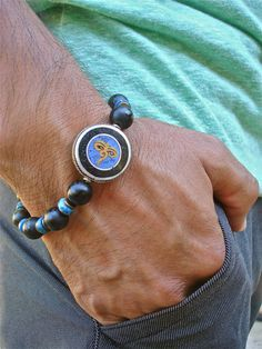 Men's Spiritual Tibetan Eyes of Buddha Eyes of by tocijewelry