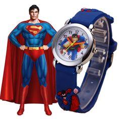 Superman Cartoon Fashion Sports Quartz Watches //Price: $15.98 & FREE Shipping //   #baby #kids #babydress #babyclothing #babyfashion