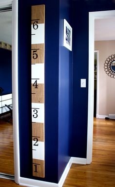 Striped Wooden Oversized Ruler Growth Chart by jenwoodhouse