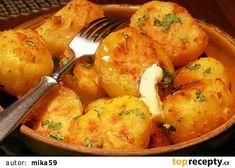 Pečené třepané brambory recept - TopRecepty.cz Ham, Potatoes, Treats, Chicken, Vegetables, Recipes, Cooking, Eten, Sweet Like Candy