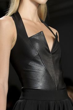 leather vee...leather top or leather dress for fall